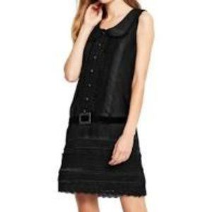 Anna Sui for Target Black Belted Mini Shirt Dress